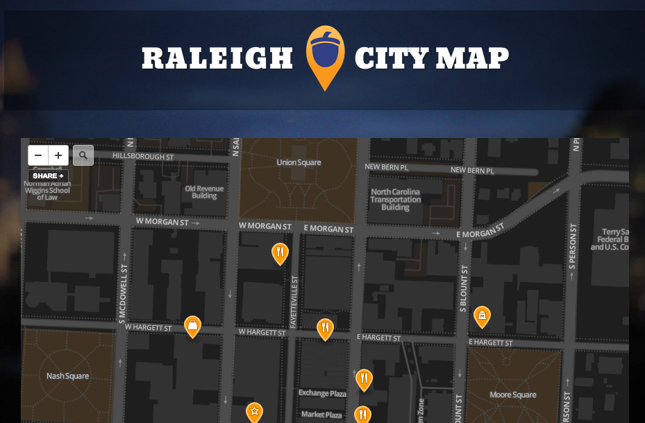 Raleigh City Map